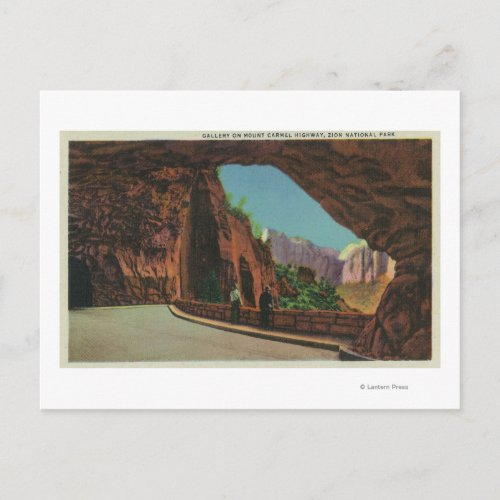View of the Gallery on Mount Carmel Highway Postcard