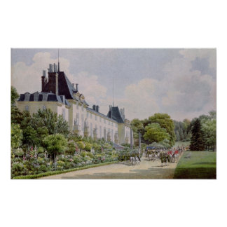 View of the Garden Facade of the Chateau Poster