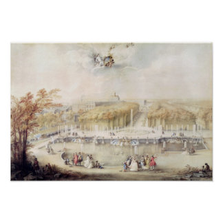 View of the Gardens and the Chateau of Versailles Poster