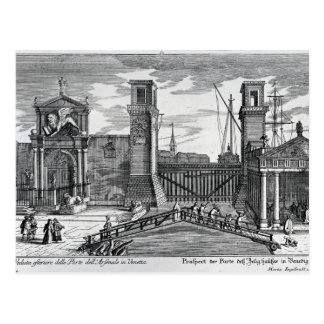 View of the gates at the entrance to Arsenal Postcard