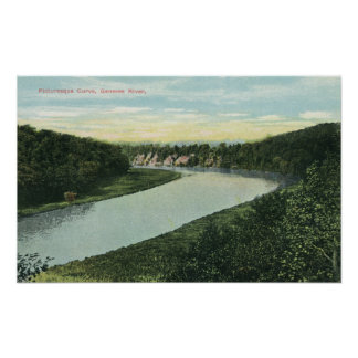 View of the Genesee River Posters