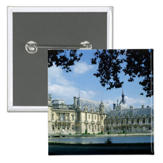 View of the Grand and Petit Chateau 2 Inch Square Button