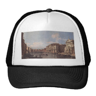 View of the Grand Canal at San Stae by Bernardo Trucker Hat