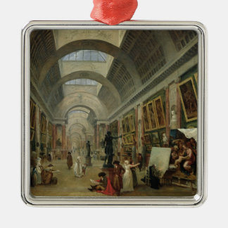 View of the Grand Gallery of the Louvre, 1796 Christmas Ornament