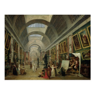 View of the Grand Gallery of the Louvre, 1796 Postcard
