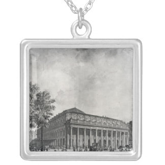 View of the Grand Theatre, Bordeaux Silver Plated Necklace