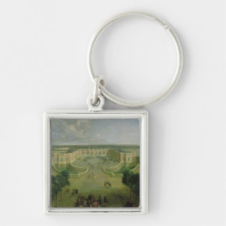 View of the Grand Trianon, 1722 Silver-Colored Square Keychain
