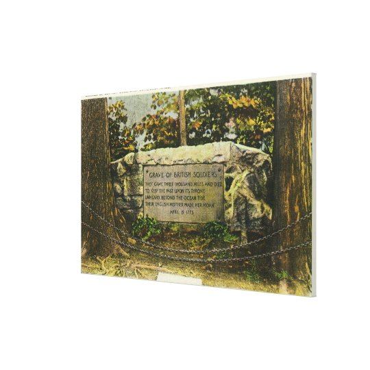 View of the Grave of British Soldiers Canvas Print