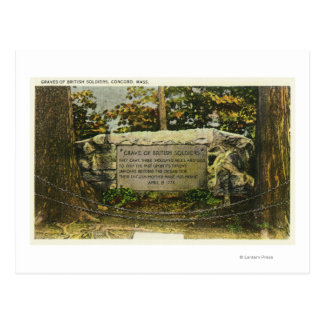 View of the Grave of British Soldiers Postcard