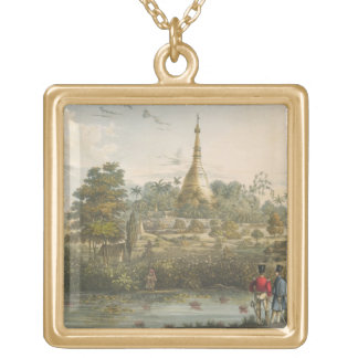 View of the Great Dagon Pagoda at Rangoon from the Gold Plated Necklace