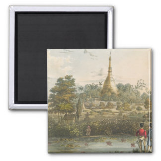 View of the Great Dagon Pagoda at Rangoon from the Magnet