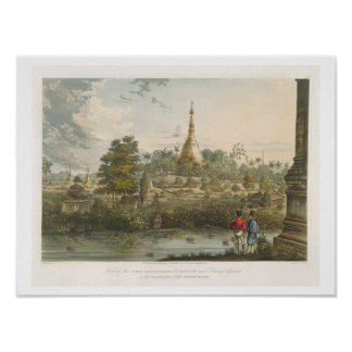 View of the Great Dagon Pagoda at Rangoon from the Poster