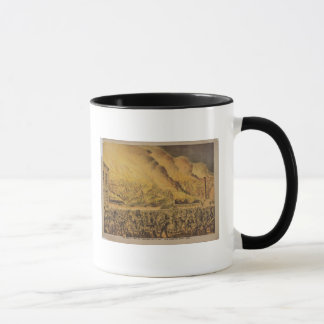 View of the Great Fire of Chicago Mug