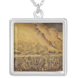 View of the Great Fire of Chicago Personalized Necklace