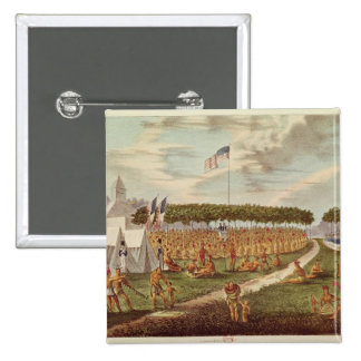 View of the Great Treaty Held at Prairie du Pinback Button