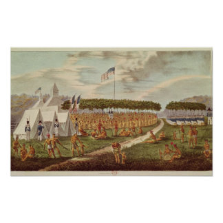 View of the Great Treaty Held at Prairie du Poster