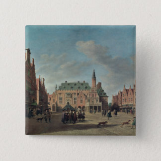View of the Grote Markt in Haarlem Button