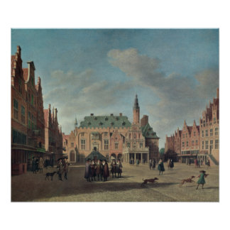 View of the Grote Markt in Haarlem Poster
