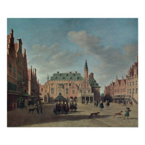 View of the Grote Markt in Haarlem Posters