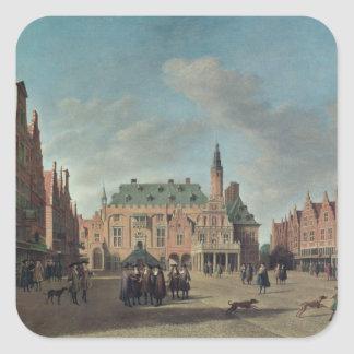 View of the Grote Markt in Haarlem Stickers