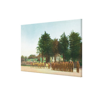View of the Guard Mount Presidio in Formation Canvas Prints