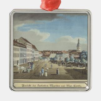 View of the Hackescher Markt Square Metal Christmas Ornament