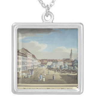 View of the Hackescher Markt Silver Plated Necklace