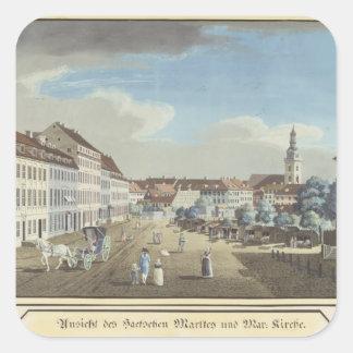 View of the Hackescher Markt Square Sticker