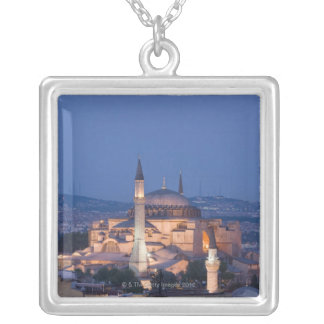 View of the Haghia Sophia Silver Plated Necklace