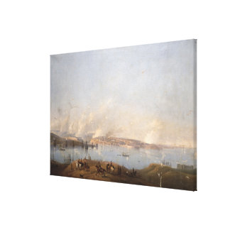View of the Harbour of Sebastopol during the Crime Canvas Print