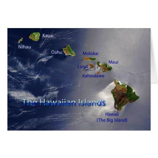 View of the Hawaiian Islands Card