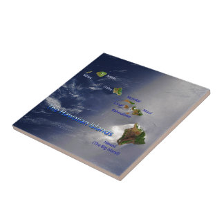View of the Hawaiian Islands Ceramic Tile