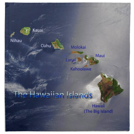 View of the Hawaiian Islands Cloth Napkin