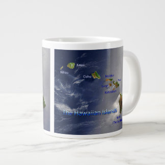 View of the Hawaiian Islands Giant Coffee Mug
