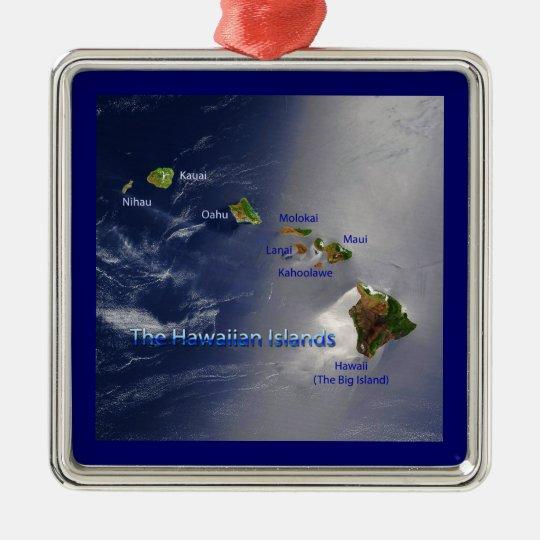 View of the Hawaiian Islands Metal Ornament