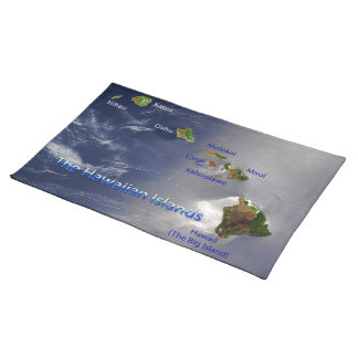 View of the Hawaiian Islands Placemat