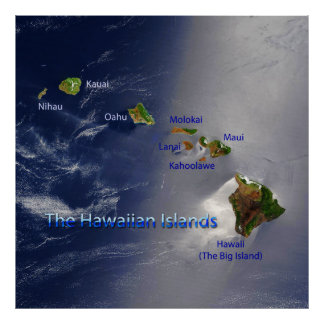 View of the Hawaiian Islands Poster