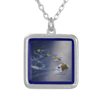 View of the Hawaiian Islands Silver Plated Necklace