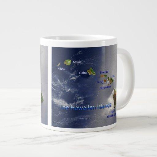 View of the Hawaiian Islands 20 Oz Large Ceramic Coffee Mug