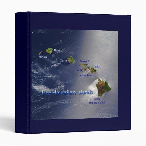View of the Hawaiian Islands Vinyl Binder