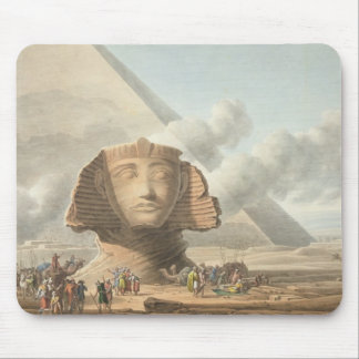 View of the Head of the Sphinx and the Pyramid of Mouse Pad