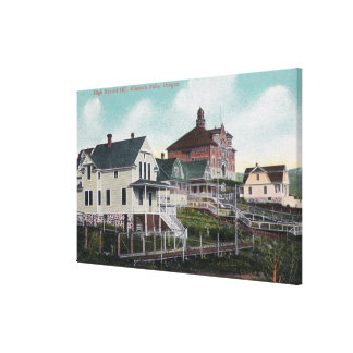 View of the High School Hill, Residences Canvas Print