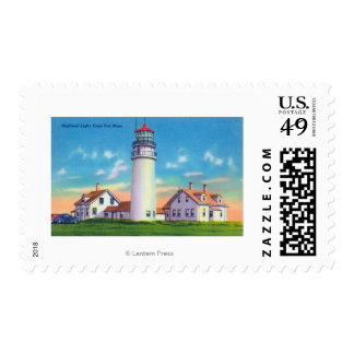View of the Highland Lighthouse Stamp