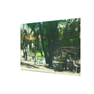 View of the Hot Springs Pond Stretched Canvas Print