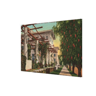 View of the Hotel Maryland & Pergola Canvas Print