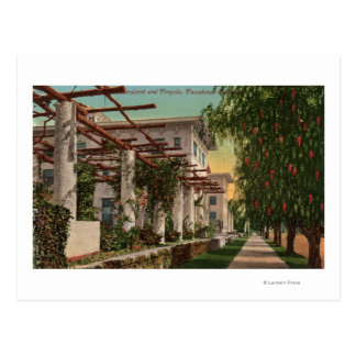 View of the Hotel Maryland & Pergola Postcard
