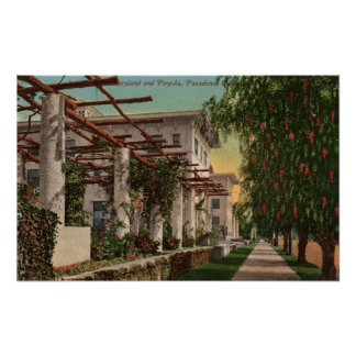 View of the Hotel Maryland & Pergola Print