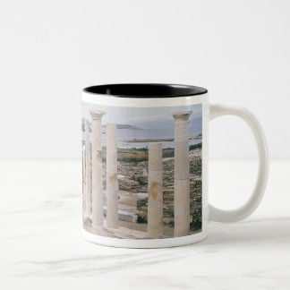 View of the House of Cleopatra Two-Tone Coffee Mug