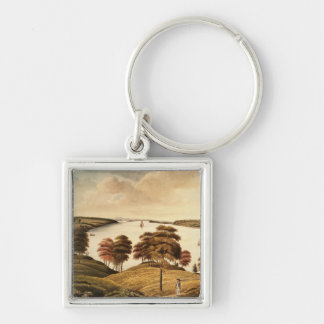 View of the Hudson River from Fort Knyphansen Keychain
