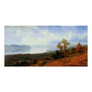 View of the Hudson River Vally by Bierstadt Poster